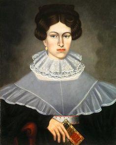 """Woman Holding a Book"" by Erastus Salisbury Field (1835)"