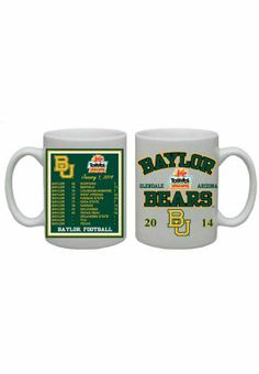 2014 Fiesta Bowl #Baylor Football 15 oz. Mug ($12.95 at Baylor Bookstore) // #SicEm #BaylorFiesta