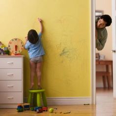 how to clean a crayon wall