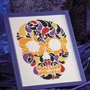 Halloween skeleton cross stitch pattern