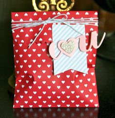 Stampin' Up! Valentine Treat Bag Krystal's Cards and More: A Whole Lot Of Love Ends TODAY!