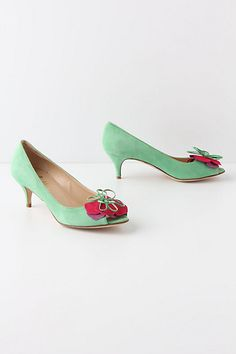Mint Mallow Peep-Toes #anthropologie