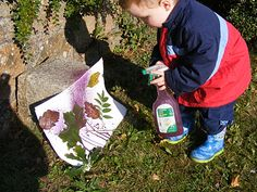 "Spray Painting Leaves ("",)"