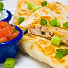 Chicken Quesadillas - The kids will love them.. Chicken Quesadillas Recipe from Grandmothers Kitchen.