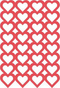 Heart background free cut file