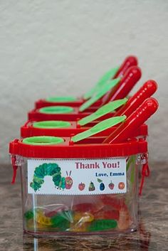 Favors for Very Hungry Caterpillar Party