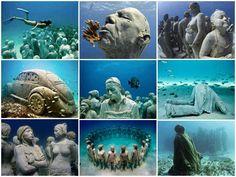 Cancun Underwater Museum in Cancun, Mexico [ MexicanConnexionForTile.com ] #Travel #Talavera #Handmade