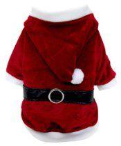 FouFou Dog Reversible Santa/Reindeer Suit, Small