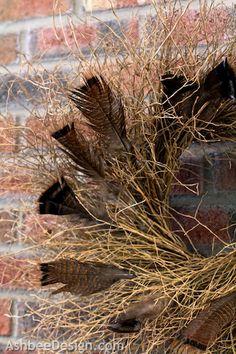 Ashbee Design: Using Feathers • Turkey Feather Wreath