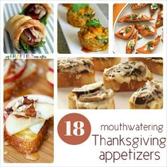 18 Mouthwatering Thanksgiving Appetizers