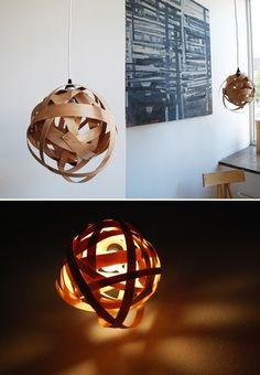 DIY: woven lamp