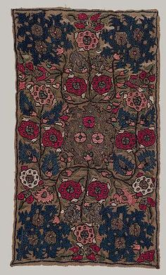 Panel, 18th century Algeria Linen, silk, silver, and gold; 12 1/2 x 7 in. (31.75 x 17.78 cm)  - Although Algeria had a centuries-long tradition of embroidery, it, like many other regions of the Ottoman empire, adopted patterns from Istanbul during the Ottoman occupation. But Algerian embroideries remained distinct from other Mediterranean types in color and stitch, and the province continued to produce mainly headdresses and headbands for which it was known throughout the empire. The ea...