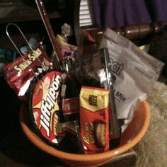 Movie basket. May do this as a bday gift or a date night idea! :-)