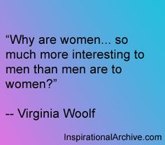 Virginia Woolf quote on men