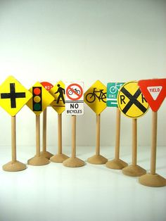 Road signs for the block area
