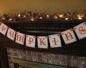 Happy Halloween Black and Orange Banner Spider Garland Great Photo Prop Sign. $24.00, via Etsy.