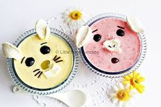 Fruit and yogurt animals