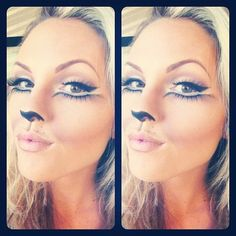 Cat Makeup-Pretty for Halloween! repin by Ellesilk.com