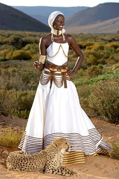 South African Wedding Traditions by weddingssc5, via Flickr african fashion, wedding dressses, bridal pictures, style, fashion models, african weddings, beauti, african dress, long dress