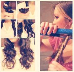 Great Way To Curl Hair With Straightener