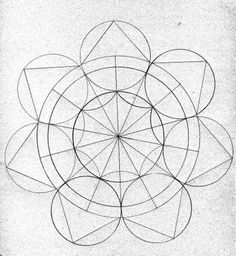 Sacred geometry diagram.