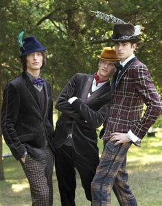 a trio of dandy bohemian men.