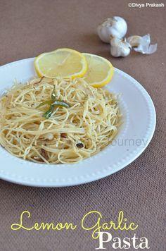 Divyas culinary journey: Lemon Garlic Pasta- Easy Pasta Recipes