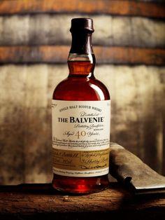 The Balvenie Single Malt Scotch Whiskey, with a signed #label.