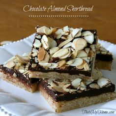 almond shortbread, chocol almond