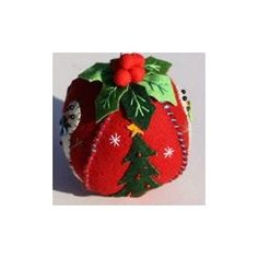 Four Petaled Red Ball Ornament