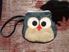 Hoot Owl Change Purse Wallet on Etsy, $6.50