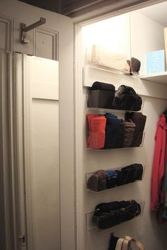 Using Ikea kitchen organizers in closet!