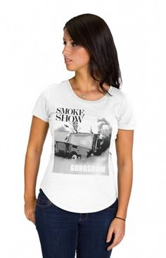 SMOKE SHOW - Bomb Shell. Smoke Show. Dime. You have heard it all, no here is a perfect shirt to show off your stuff. Yeah, your a hockey girl that also looks unreal too – get over it.... GONGSHOW