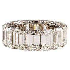 HARRY WINSTON Extraordinary Emerald Cut Diamond Ring