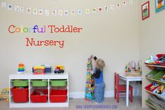 Bright and Colorful Toddler Nursery...one day