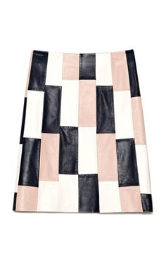 Leather Panelled Combo A-Line Skirt by Thakoon for Preorder on Moda Operandi