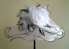 Kentucky Derby style Organza Hat