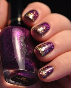 effie trinket (hunger games) inspired - nailin it with milani purple gleam and lynnderella change