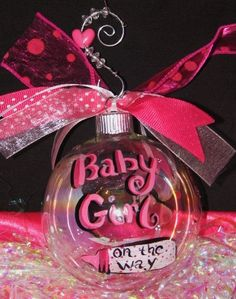 This is a great gift item for a mother-to-be .......Baby Girl or Boy on the Way Christmas Ornament by AprilsFreetime, $20.00