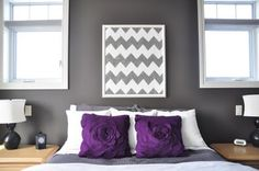 How about we paint that chevron art like Marci did...and I love gray and purple.