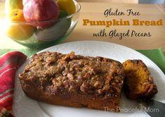 Gluten Free Pumpkin Bread with Glazed Pecans. #glutenfree #pumpkin