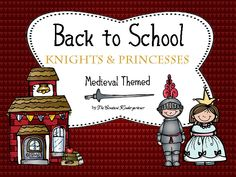 "Back to school ""Knights and Princesses"" themed pack for fun in the classroom on the first day/days of school! I Files are editable to fit any class level. $"
