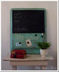 Soda Chalkboard...flea market trixie