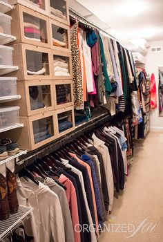 Talk about closet envy!! We LOVE Jen's fabulously organized closet using elfa and a few of her other favorite solutions by The Container Store.   Organized Jen