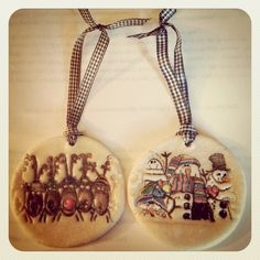 Salt dough ornaments #stampin up stamp / - http://christinabrashears.stampinup.net