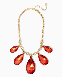 Crystal Bliss Bib Necklace | #COTM Harvest Pumpkin| #charmingcharlie