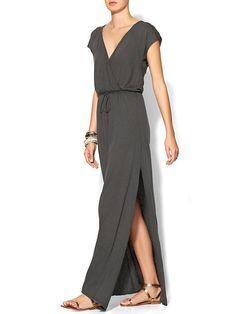 LA Made Maxi Wrap Dress - Raven