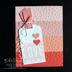 nutmeg creations: Seasonally Scattered Ombre Card by Cindy Schuster #stampinup