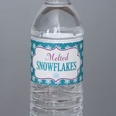 Disney's Frozen Inspired Birthday Party Water Bottle Labels - Winter Wonderland Party - Qty:10 on Etsy, $9.00