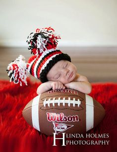 doubl tassel, football baby, football players, babi, football pics
